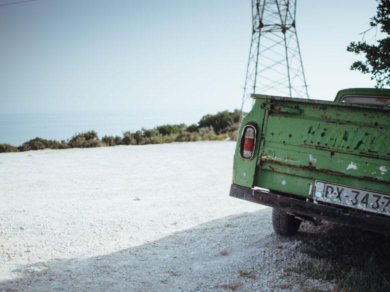Abandoned pickup truck